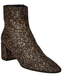 Saint Laurent Glitter Boots - Metallic