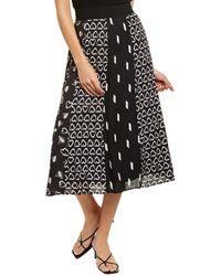 Alice + Olivia Melda Midi Skirt - Black