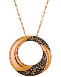 Le Vian ? Chocolatier? 14k Strawberry Gold 0.42 Ct. Tw. Diamond Necklace - Metallic