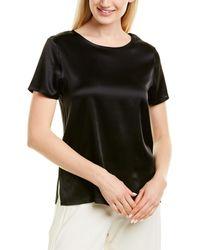 Marella Silk-blend T-shirt - Black