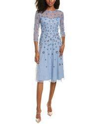Adrianna Papell Beaded Mini Cocktail Dress - Blue