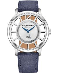 Stuhrling Original - Men's Leather Watch - Lyst