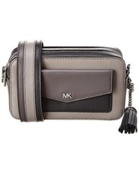 MICHAEL Michael Kors Small Pocket Leather Camera Bag - Grey