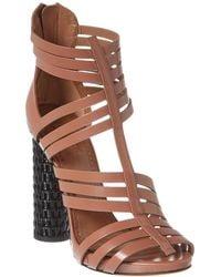 Alaïa Leather Sandal - Natural