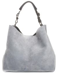 Tiffany & Co. Gray Suede Large Tote
