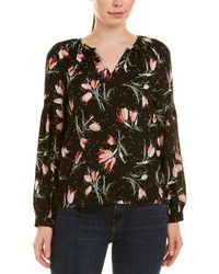 Rebecca Taylor Floral Silk-blend Top - Black