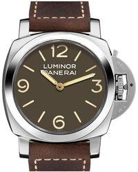 Panerai Men's Calfskin Watch - Metallic
