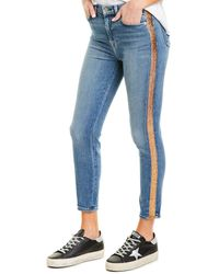 7 For All Mankind 7 For All Mankind Luxe Vintage Light Blue Wash High-waist Ankle Skinny Leg
