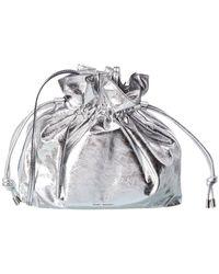 Isabel Marant Ailey Drawstring Leather Shoulder Bag - Multicolor