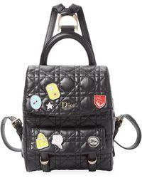 Dior - Embellished Leather Quilt Backpack - Lyst