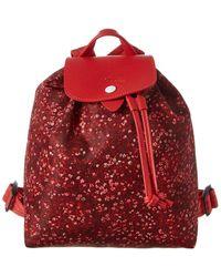 Longchamp Le Pliage Fleurs Backpack - Red