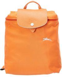 Longchamp Le Pliage Club Nylon Backpack - Orange