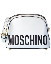 Moschino Logo Leather Shoulder Bag - Multicolour