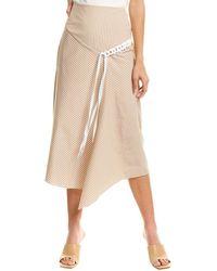 Tibi Kaia Stripe Lanyard Skirt - Natural