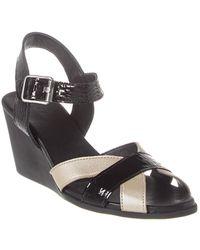 Arche Egowa Leather Wedge Sandal - Black