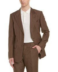 Tom Ford - Shelton 2pc Linen & Silk-blend Suit With Flat Pant - Lyst