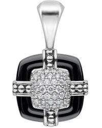 Lagos Black Caviar 18k & Silver 0.25 Ct. Tw. Diamond & Ceramic Black Pendant