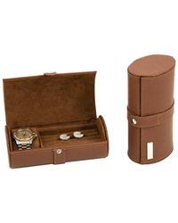 Bey-berk Watch & Cufflink Travel Case - Brown