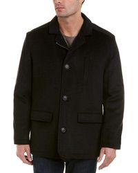 Hart Schaffner Marx Forrester Wool-blend Coat - Gray
