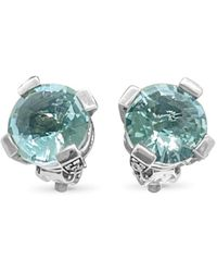 Stephen Dweck Silver Gemstone Earrings - Multicolor