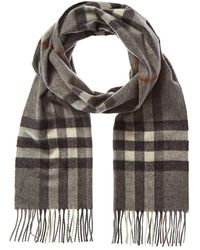 Burberry Giant Check Cashmere Scarf - Grey