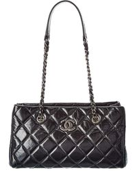 Chanel Black Quilted Calfskin Leather Chain Satchel
