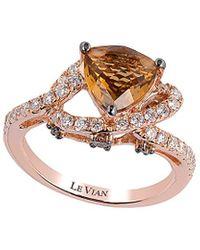 Le Vian 14k Rose 2.08 Ct. Tw. Diamond & Quartz Ring - Metallic