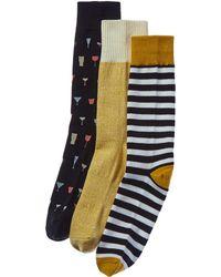 Richer Poorer - Pack Of 3 Socks - Lyst