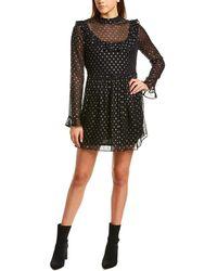 Robert Rodriguez Camille Silk-blend A-line Dress - Black