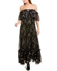 LoveShackFancy Ronny Silk-blend Maxi Dress - Black