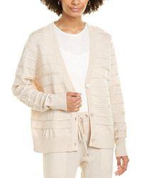 St. John Link-trim Wool Cardigan - Brown