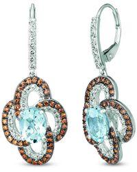 Le Vian 14k 3.28 Ct. Tw. Diamond & Aquamarine Drop Earrings - Blue