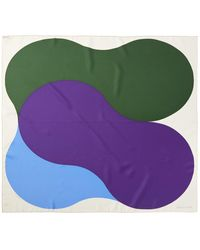 "Hermès ""squeeze,"" By Richard Gorman Silk Scarf - Purple"