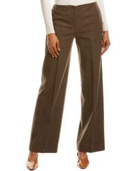 Theory Houndstooth Wool-blend Pant - Brown