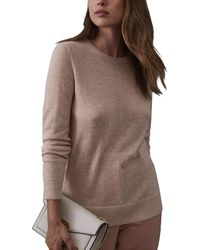 Reiss Maya Wool-blend Jumper - Brown