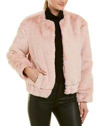 Walter Baker Regina Faux Fur Jacket - Pink