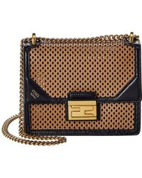 Fendi Kan U Small Leather Shoulder Bag - Multicolour