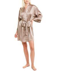 Natori Lolita Silk Robe - Natural