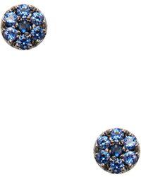 Meira T - 14k Black Gold & Blue Sapphire Stud Earrings - Lyst