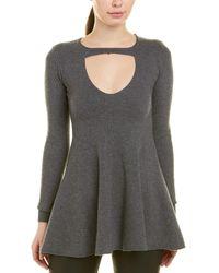 Stella McCartney Keyhole Wool Sweater - Gray
