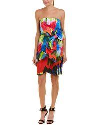 MILLY Bow Sheath Dress - Blue