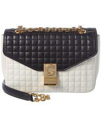 Céline Medium C Quilted Leather Shoulder Bag - Multicolor