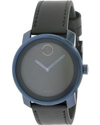 Movado Unisex Leather Watch - Multicolour