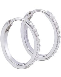 Diana M. Jewels . Fine Jewellery 14k 0.40 Ct. Tw. Diamond Hoops - White