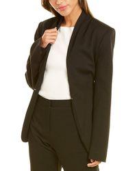 Halston Ana Knit Tie Belt Jacket - Green