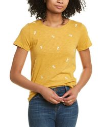 J.Crew Embroidered Floral T-shirt - Yellow