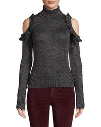 Jill Stuart Metallic Cold-shoulder Jumper - Multicolour
