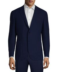 Canali - Solid Wool Jacket - Lyst