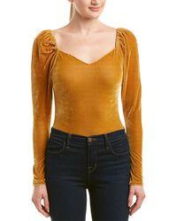 a. calin Velvet Bodysuit - Orange