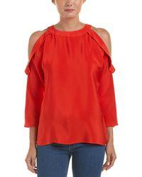 Ramy Brook Vivica Silk Top - Red